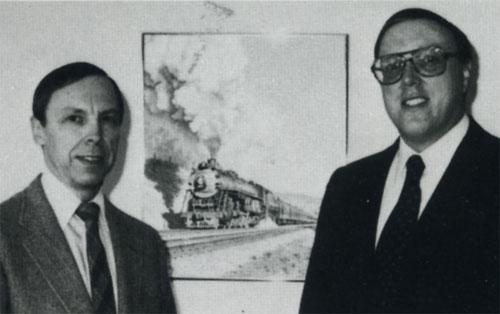 Northern Pacific Supersteam Era authors Robert L. Frey and Lorenz P. Schrenk