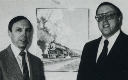 Northern Pacific Supersteam Era authors Robert L. Frey and Lorenz P. Schrenk